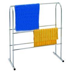 Chrome Free Standing Towel Rail