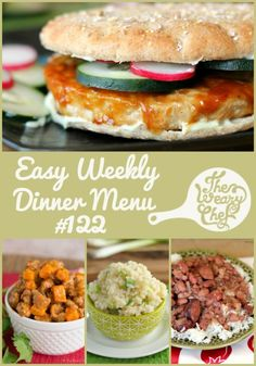 This week's dinner menu includes new recipes like Sweet Potato Sausage Chili and old favorites like Slow Cooker Red Beans and Rice and Stovetop BBQ Chicken!