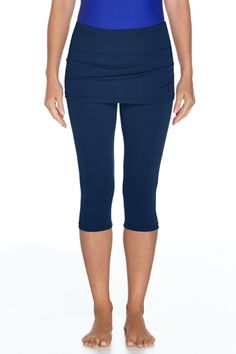 """Skirted Swim Capris - <div class=""""tabContent"""" id=""""tab1"""" style=""""display: block;""""> <div class=""""text""""> <p class=""""inline""""> Want leg coverage but not 100% sold on our t"""