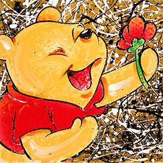 Winnie the Pooh - Broken Flower Pooh- David Willardson - World-Wide-Art.com - #davidwillardson #disney