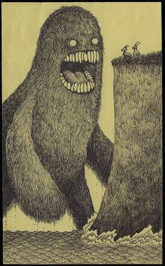 Monster illustrations by John Kenn