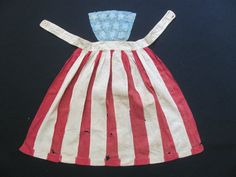Super RARE Original Civil War Era Patriotic Flag Apron C 1861 1865 | eBay Pinner aprons from this period are often not real large but the small size of this one makes me think it was made for a younger girl. It measures as follows: Length from top to bottom 23 inches, Waist along belt 23 inches, Width at the bottom hem 26 inches.