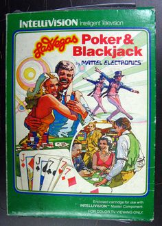 Las Vegas Poker and Blackjack Video Game Mattel Intellivision Sealed Complete Vintage Video Games, Classic Video Games, Vintage Games, Childhood Toys, Childhood Memories, Pc Engine, Old School Toys, Old Games, Retro Toys