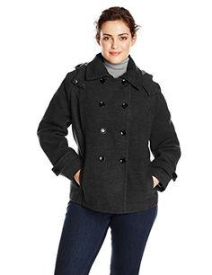 0f15cfb0b964b Calvin Klein Women s Plus-Size Wool Double Breasted Coat