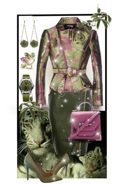 """Jungle Lady"" by giovanina-001 ❤ liked on Polyvore featuring Dsquared2, Victorinox Swiss Army, Christian Louboutin and Mackage"