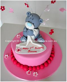 Tatty Teddy Birthday Cake Me To You Children Cakes 1st  cakepins.com