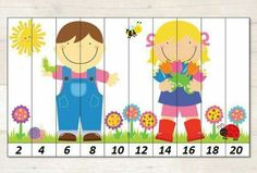 number sequence worksheets for preschoolers free Counting Activities For Preschoolers, Spring Activities, Toddler Activities, Preschool Activities, Counting Puzzles, Printable Preschool Worksheets, Printable Puzzles, Free Printables, April Preschool