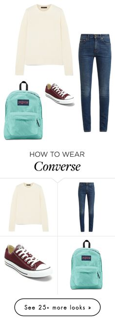 """""""Untitled"""" by dancer0202 on Polyvore featuring Yves Saint Laurent, The Row, Converse and JanSport"""