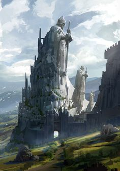 The castle of Knights, Kim Eun Chul on ArtStation at https://www.artstation.com/artwork/8ONvQ