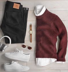casual mens fashion which is great 952921 Stylish Mens Outfits, Casual Outfits, Men Casual, Fashion Outfits, Fashion Tips, Mode Man, Herren Style, Herren Outfit, Outfit Grid