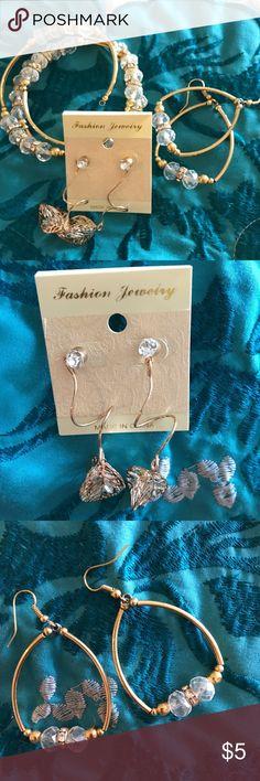 🛍📿💎Beautiful 3 pieces jewelry fashion set🛍📿💎 Beautiful fashion bracelet and earring set. New. Jewelry Bracelets