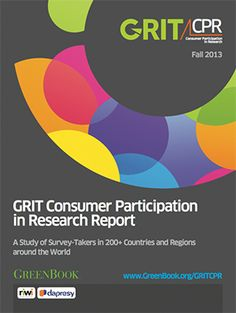 New GRIT Consumer Participation in Research (CPR) Report answers the who, what, where, when, and why of global research participation. Industry Trends, Research Report, Study, Studio, Studying, Research