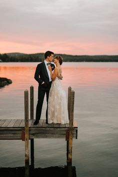 The event'sautumn-inspired color paletteincluded burgundy blush navy gray and champagne while the waterfront spot offered sweeping views from the terrace dock and dining room. Wedding Picture Poses, Funny Wedding Photos, Wedding Photography Poses, Wedding Poses, Wedding Couples, Wedding Portraits, Bridal Pictures, Outdoor Wedding Pictures, Wedding Couple Pictures