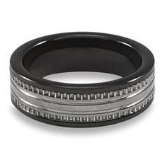 @Overstock - Adorn your finger with a piece of manly jewelry with this black Tungsten carbide ring. The brushed finish gives it a bit of refinement while still allowing it to look masculine. The Tungsten material is heavy duty and built to last for years.http://www.overstock.com/Jewelry-Watches/Mens-Tungsten-Carbide-Black-Ceramic-Inlay-Ring/5207519/product.html?CID=214117 $39.99