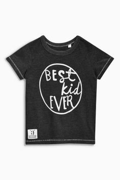 Buy Charcoal Best Kid Ever Slogan T-Shirt (3mths-6yrs) from the Next UK online shop