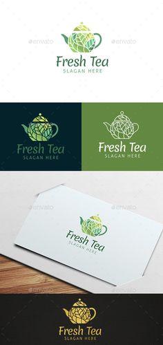 Fresh Tea Logo Template Vector EPS, AI Illustrator