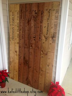 Giant Ruler. Giant Wooden Growth Chart. HAND By Kateslittleshop