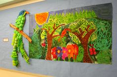 Briargrove Elementary Art Page: 4th Grade Tropical Rainforest Mural