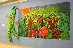 Briargrove Elementary Art Page: 4th Grade Tropical Rainforest Mural