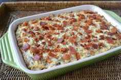 Roasted Garlic Spinach & Artichoke Dip with Bacon - Sunflower Supper Club Garlic Spinach, Creamed Spinach, Roasted Garlic, Enchilada Casserole, Egg Casserole, Sage Sausage, Brunch Buffet, Mexican Food Recipes, Ethnic Recipes