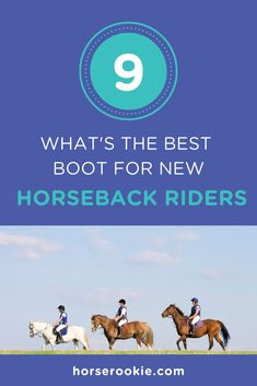 Finding the right shoes for horseback riding can be tricky. We have a few boot recommendations for beginner riders to get started.