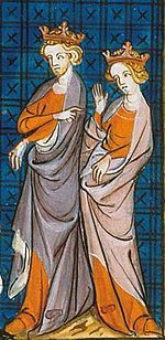 14th century representation of Henry II and Eleanor or Aquitaine.