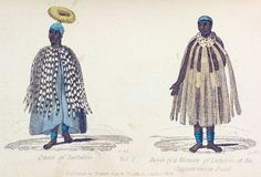 Queen of Leetakoo.  Dress of a Woman of Leetakoo, at the Circumcision Feast. From New York Public Library Digital Collections.