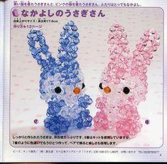 beaded bunny and elephant