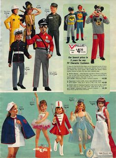 1972 Sears Wish Book page451, OMG my sister and I had the nurse and the majorette costumes - sooo cute!!