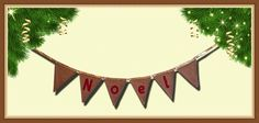 A variation on a theme. Red & Gold - very Christmassy! Make Bunting, Red Gold, Tapestry, Decor, Hanging Tapestry, Tapestries, Decoration, Decorating, Needlepoint