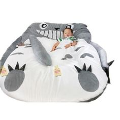 My Neighbor Totoro Sleeping Bag Sofa Bed Twin Bed Double Bed Mattress for Kids - Kids Mattresses - Ideas of Kids Mattresses Kids Bed Canopy, Kids Mattress, Textiles, My Neighbor Totoro, Bed Furniture, Furniture Stores, Garden Furniture, Double Beds, Kid Beds