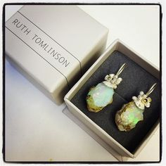 @ruthtomlinsonjewellerys photo: Commission using my clients beautiful rough boulder opals. They are off to Japan soon!