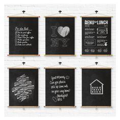 Roll up Chalkboard / Blackboard, via Etsy.
