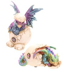 Cute Hatching Baby Dragon Figurine Our fantasy and gothic dragon range are great…