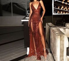 Sexy Burgundy Sequin Prom Dresses, Open Back Slits Party Dress Straps Prom Dresses, Sequin Prom Dresses, Mermaid Prom Dresses, Ball Dresses, Dress Prom, Sequin Gown, Bling Dress, Prom Gowns, Elegant Dresses