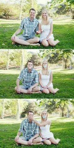 Cute gender announcement idea from The Letter B Photography (source) Baby Time, Pregnancy Photos, Maternity Pictures, Baby Pictures, Children And Family, Future Children, Gender Reveal Nails, Gender Reveal Photos, Baby Shower Gender Reveal