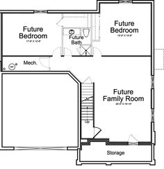 Villa Medici Ivory Homes Floor Plan - Basement Level