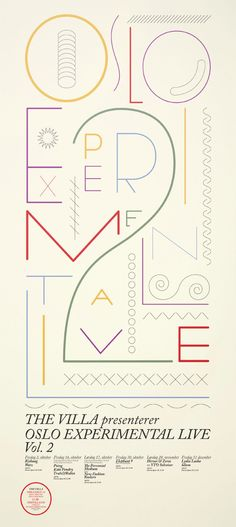 Show Posters, Oslo Experimental Live, by Metric Design
