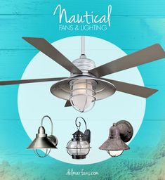 1000 ideas about nautical lighting on pinterest nautical nautical lamps and lighting - Beach themed ceiling fan ...