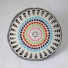Crocheted pillow in cotton. Virkad kudde i bomullsgarn. #crochetdesign #studiomagenta #veronicafransson #crochetofinstagram #pillow #kudde#virkad Magenta, Beach Mat, Decorative Plates, Outdoor Blanket, Pillows, Studio, Home Decor, Decoration Home, Room Decor