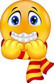 Cartoon a Shivering Smiley — Stock Vector #63473701