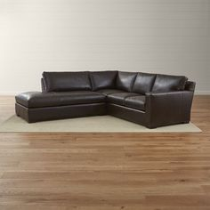 Axis II Leather 2-Piece Sectional Sofa - Crate and Barrel