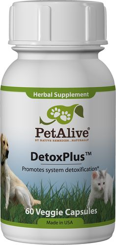 DetoxPlus™ - Natural detox remedy with herbs supports detoxification for overall liver health in cats and dogs
