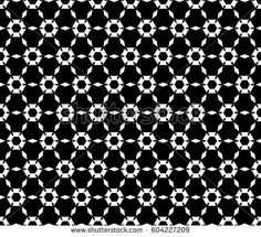 Vector monochrome texture, simple geometric seamless pattern. Symmetric hexagonal grid, perforated hexagons, rhombuses. Abstract black & white background. Design for prints, decor, textile, digital