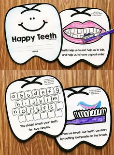 Dental Health Month Unit for preschool, kindergarten, and first grade. Use the fun activity book to talk about having a healthy mouth. Students will brush their teeth, talk about going to the dentist, and so much more!