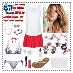 """""""4th July Fashion"""" by whims-and-craze on Polyvore featuring Canvas by Lands' End, H&M, adidas, BUCO, Volcom, Kim Rogers, Giorgio Armani, Olivine and Smoke & Mirrors"""