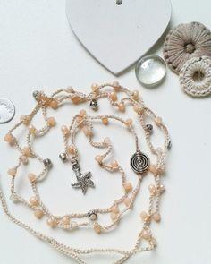 Collana stella Marina cipria handmade saltinmente