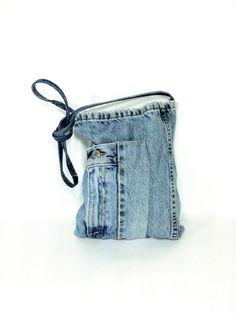 Denim blue jean handbag purse handmade from Levi's jeans ...
