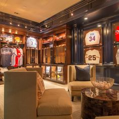 Baseball themed man cave! My future husband definitely needs this someday! LOVE IT.