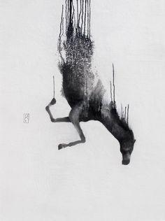 FALLING HORSES by Kieran Antill, via Behance